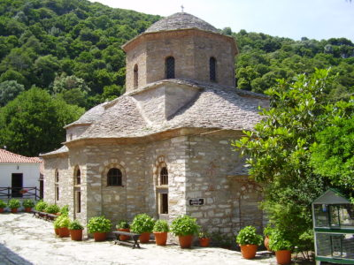 Moni Evangelistrias: jediný fungující klášter na Skiathosu