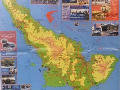 Mapa zajímavých míst na Skopelosu