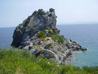 Agios Iannis sto Kastri: kostelík Mamma Mia!