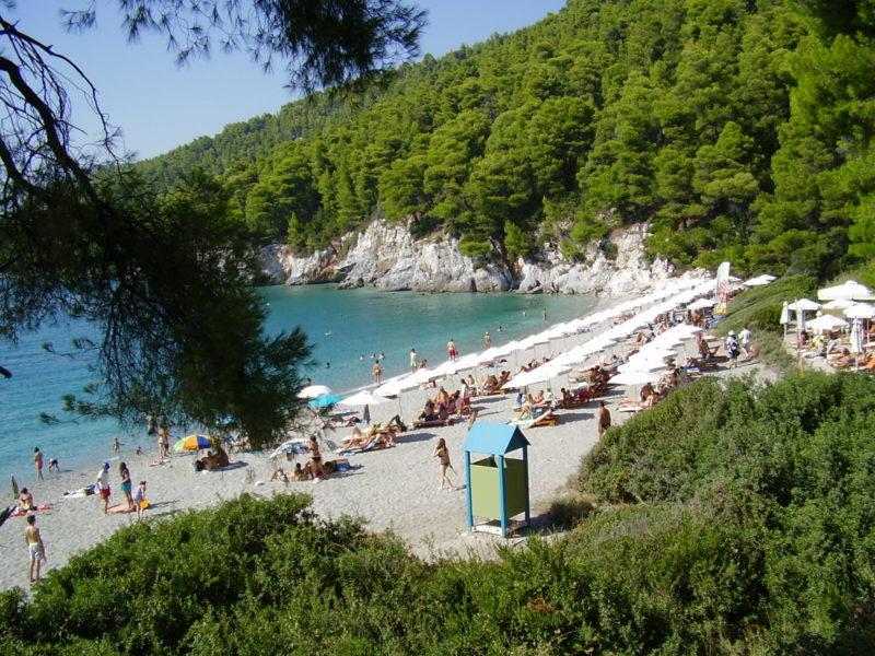 Pláže na Skopelosu