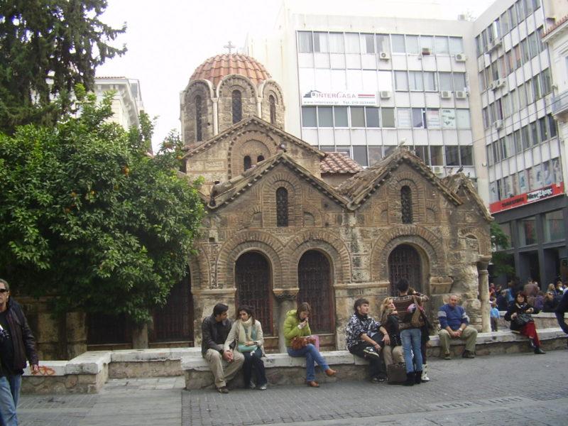 Kostelík Kapnikareas v Athénách