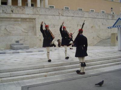 Výměna stráží v Athénách
