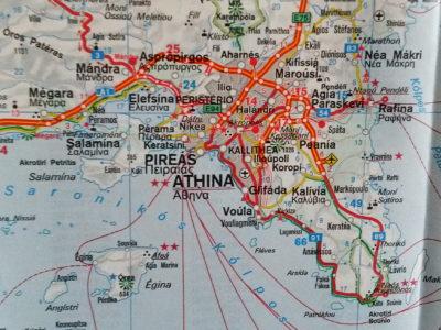 Doporučená trasa prohlídky Athén